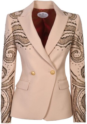 The Extreme Collection Beige Crossover Blazer Naomi