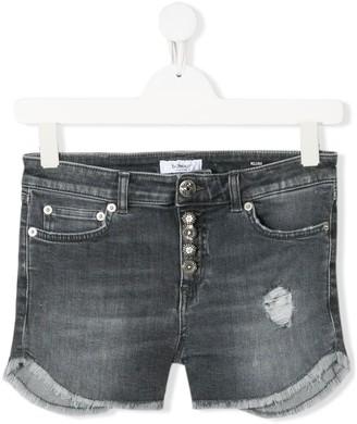 Dondup Kids Distressed Effect Jean Shorts