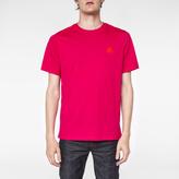 Paul Smith Men's Fuchsia Flocked PS Logo Organic-Cotton T-Shirt