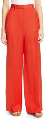 PARTOW Jimson Linen & Cotton Wide Leg Pants