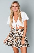 MUMU Skater Stretch Skirt ~ Late Night Leopard