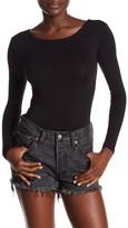 Velvet Torch Long Sleeve Lace Up Back Bodysuit