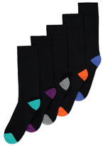George 5 Pack Assorted Feel Fresh Socks
