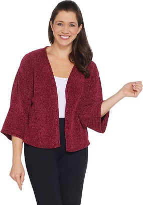 AnyBody Chenille Cropped Cardigan