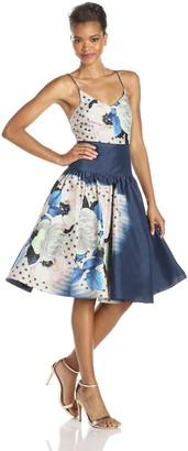 Tracy Reese Women's Printed Taffeta Dress