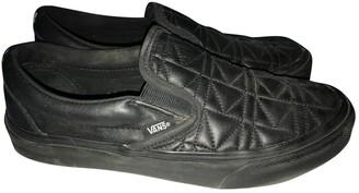 Vans Black Leather Flats