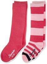 Sterntaler Baby Girls' Kniestrümpfe DP Ringel/Uni Calf Socks,5
