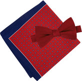 Tommy Hilfiger Men's Solid Pre-Tied Bow Tie & Micro Neat Pocket Square Set