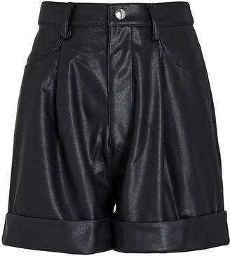 WeWoreWhat Vegan Leather Cuff Shorts