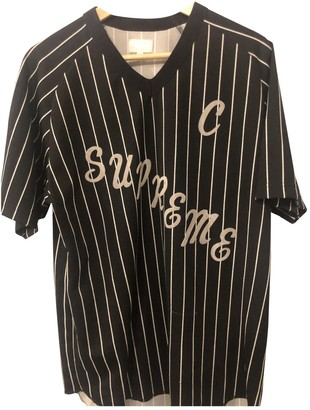 Supreme Black Polyester T-shirts