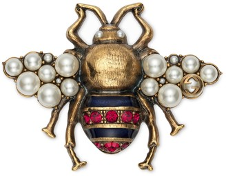 Gucci Bee brooch with crystals and pearls