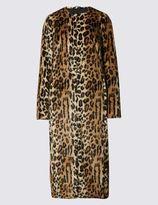 Marks and Spencer Long Leopard Print Coat