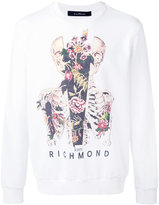 John Richmond skull and flower print sweatshirt - men - Cotton/Polyester - L