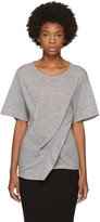 Maison Margiela Grey Gathered T-Shirt