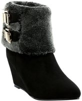 Eclimb Shoes Womens Faux Fur Platform Wedge Heel Snow Boots Winter Boots
