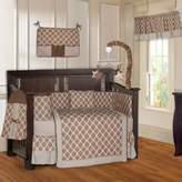 BabyFad Quatrefoil Clover Brown 10 Piece Baby Crib Bedding Set