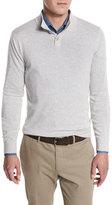 Loro Piana York Cashmere Pullover Sweater, Pearl/Plaster Melange