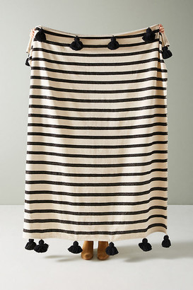 Anthropologie Woven Nayland Throw Blanket By in Yellow Size ALL