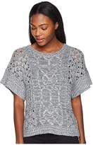 Prana Patchwork Sweater (Gravel) Women's Sweater
