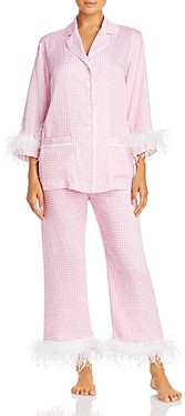 Sleeper Feather Trim Gingham Pajama Set - 100% Exclusive