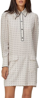 Equipment Eabna Polka Dot Silk Dress