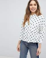 Pull&Bear Polka Dot Shirt
