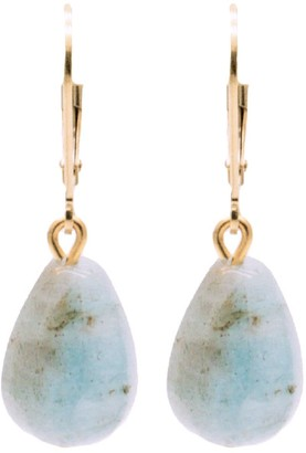 Salome Bridal Collection Girl With An Aquamarine Gemstone Pendant Earrings