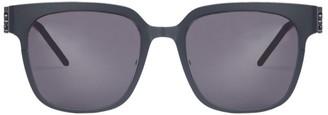Saint Laurent Eyewear Curved Squared Sunglasses