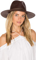 Janessa Leone Mallary Short Brimmed Panama in Brown. - size L (also in M,S)
