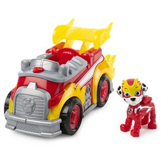Marshall Paw Patrol Mighty Pups Super Paws Deluxe Vehicle with Lights and Sounds