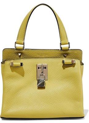 Valentino Embellished Pebbled-leather Shoulder Bag