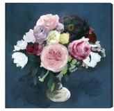 Oliver Gal Night Bouquet Canvas Wall Art