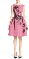 Carolina Herrera Women's Embellished Silk Faille Dress