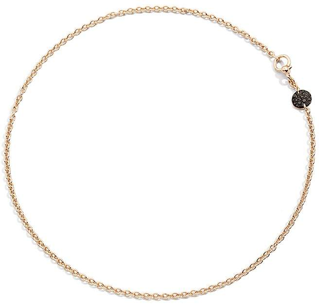 Pomellato Sabbia Necklace with Black Diamonds in 18K Rose Gold