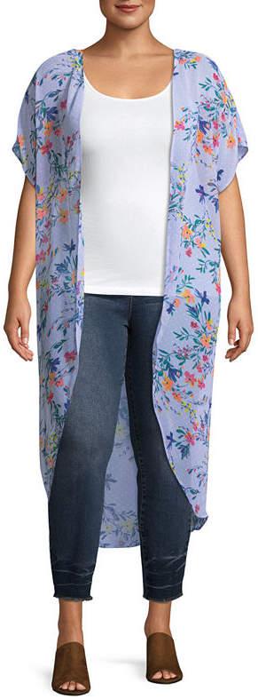 + + Elbow Sleeve Kimono- Plus