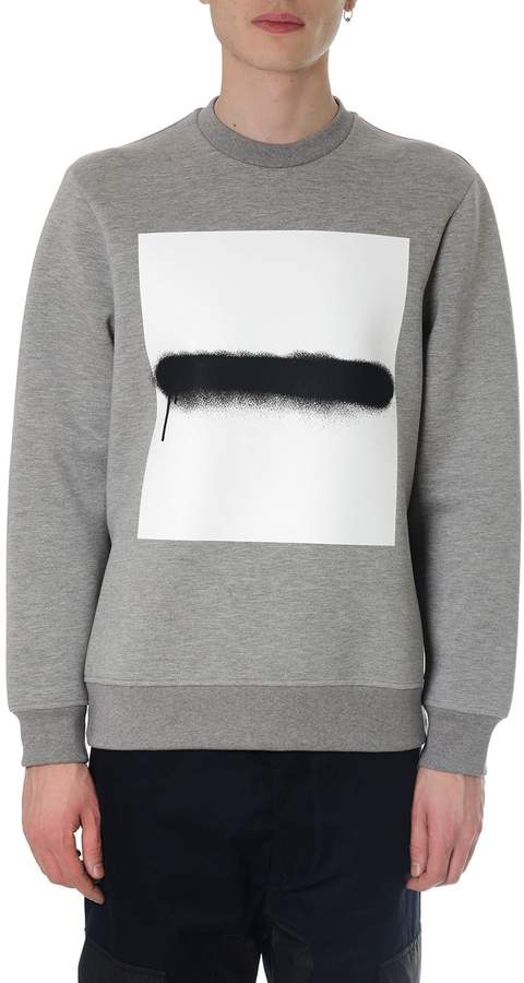Diesel Black Gold Gray Sweatshirt With Black Spray Effect