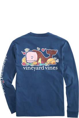 Vineyard Vines Thanksgiving Cornucopia Whale Long-Sleeve Pocket Tee