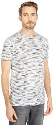 AllSaints Kora Short Sleeve Crew (Grey/Chalk) Men's Clothing