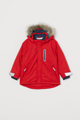 H&M Water-repellent Padded Jacket - Red