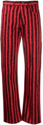 Kenzo Striped Straight Leg Jeans