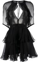 DSQUARED2 Tiered-Ruffle Chiffon Mini Dress