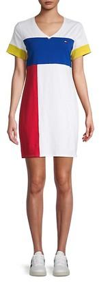 Tommy Hilfiger Colorblock T-Shirt Dress