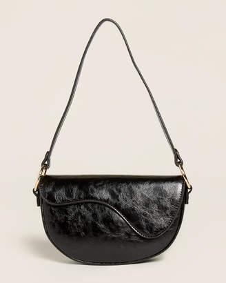 Street Level Black Flap Shoulder Bag