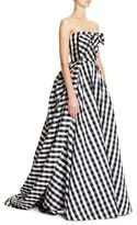 Carolina Herrera Gingham Plaid Gown