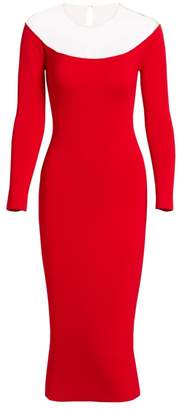 Alexander Wang Sheer Yoke Bodycon Midi Dress