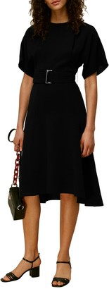 Whistles Textured Belt Dress