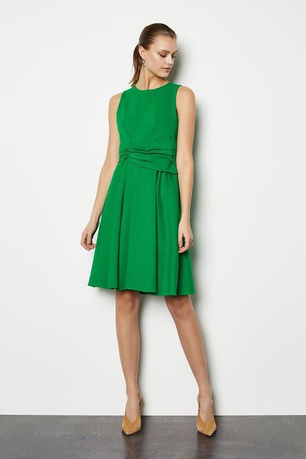 Karen Millen Woven Sleeveless Gathered Dress