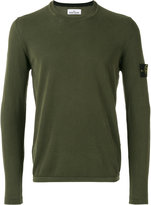 Stone Island arm patch jumper - men - Cotton - XL