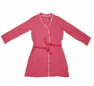 George Ladies Womens I DO Crew Dressing Gown Robe Hen Party Bridal Wedding 100% Cotton Small 8-10 Pink