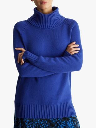 Fenn Wright Manson Petite Aveline Roll Neck Jumper, Blue